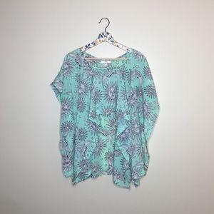 LF Millau Celestial print high low boho blouse S